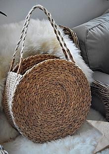 Veľké tašky - Letná taška z morskej trávy a jutového špagátu - 10415323_