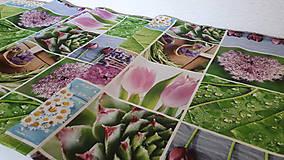 Úžitkový textil - Jarný set  (Stredový obrus kvetinovy 135×40 cm) - 10420227_