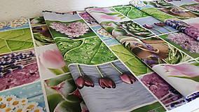 Úžitkový textil - Jarný set  (Stredový obrus kvetinovy 135×40 cm) - 10420238_