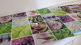 Úžitkový textil - Jarný set  (Stredový obrus kvetinovy 135×40 cm) - 10420239_