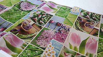 Úžitkový textil - Jarný set  (Stredový obrus kvetinovy 135×40 cm) - 10420230_