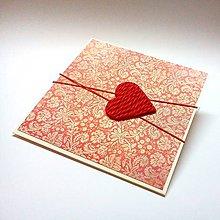 Papiernictvo - Pohľadnica ... upletená láska - 10420653_