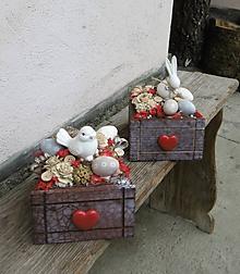 Dekorácie - Veľkonočná dekorácia s keramickým vtáčikom, či  zajačikom - 10417742_