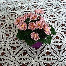 Dekorácie - Fialka růžová - korálková - 10418183_