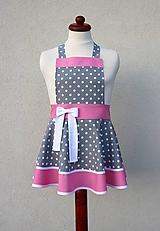 Detské oblečenie - detská zásterka Loli sivá - 10421421_