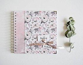 Papiernictvo - Svadobný album - ruže 20x20 - 10419572_