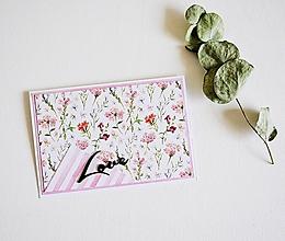 Papiernictvo - Svadobný pozdrav - lúčne kvety - 10419610_