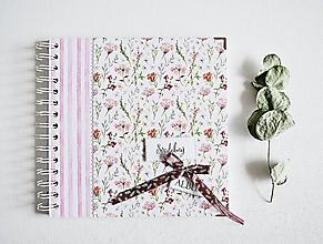 Papiernictvo - Svadobný album - lúčne kvety 20x20 - 10419626_