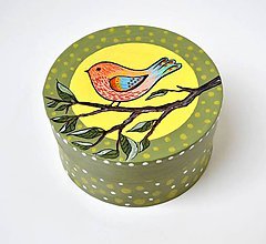Krabičky - Krabička-Vtáčik na konári - 10419185_