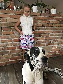 Detské oblečenie - Sukňa - Pierka - 10419272_