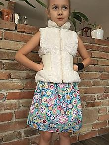 Detské oblečenie - Sukňa - Kvietkové mandaly - 10419328_