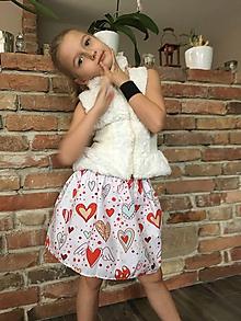 Detské oblečenie - Sukňa - Okrídlené srdcia - 10419357_