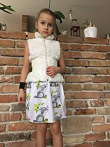 Detské oblečenie - Sukňa - Malý vlk - 10419444_