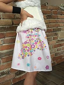 Detské oblečenie - Sukňa - Kvietkový motýľ - 10419475_