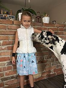 Detské oblečenie - Sukňa - Labute - 10419481_