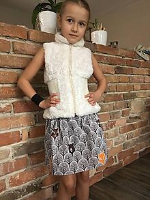 Detské oblečenie - Sukňa - V lese sivá - 10419510_