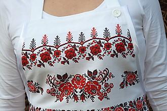 Iné oblečenie - Zásterka Vyšívané bordúry ruží - 10421050_