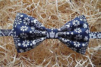 Doplnky - Motýlik modrotlač-slovenký junák - 10420860_