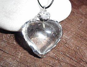 Náhrdelníky - cristall heart and snow-v cene s náramkom!! - 10420640_
