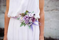 Opasky - Kvetinový opasok - 10420254_