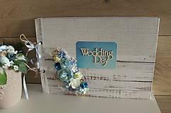 Papiernictvo - biele drevo_ svadobný fotoalbum - 10422009_
