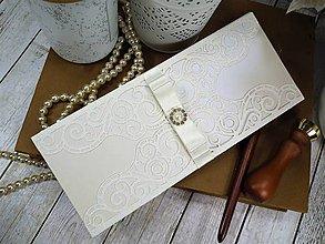 Papiernictvo - Elegance pohľadnica-obálka na peniaze - 10419244_
