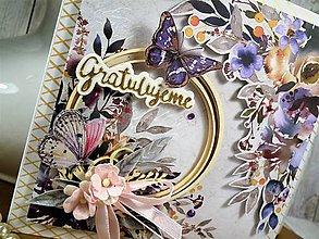 Papiernictvo - Violet pohľadnica - 10419345_