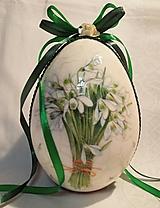 """Dekorácie - Veľkonočné kraslice """"Nežné snežienky I."""" - 10419943_"""