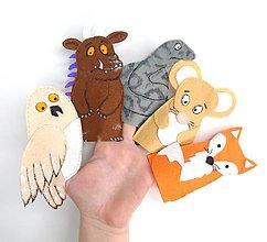 Hračky - Bábky na prsty: Gruffalo - 10418563_