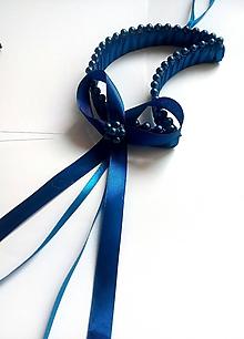 Dekorácie - Mesiačik - dekorácia - modrý - 10418537_