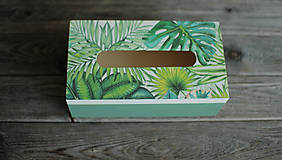 Krabičky - Box na vreckovky - 10419600_