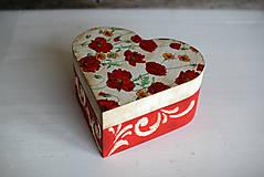 Krabičky - Srdiečková šperkovnica - 10419707_