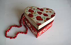 Krabičky - Srdiečková šperkovnica - 10419708_