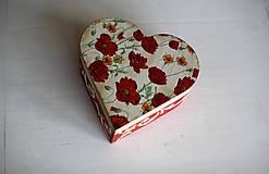 Krabičky - Srdiečková šperkovnica - 10419709_