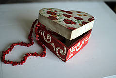Krabičky - Srdiečková šperkovnica - 10419710_