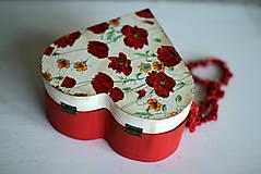 Krabičky - Srdiečková šperkovnica - 10419712_