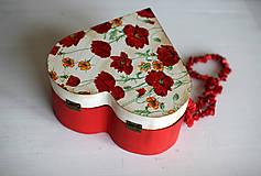 Krabičky - Srdiečková šperkovnica - 10419718_