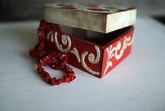 Krabičky - Srdiečková šperkovnica - 10419720_