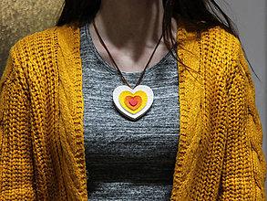 Drobnosti - Srdiečko viacfarebné - 10421615_