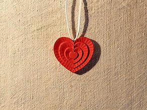 Drobnosti - Srdiečko viacfarebné (Červená) - 10421622_