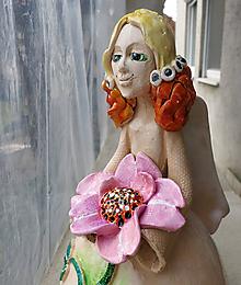 """Bábiky - """"Ruženka"""" - maľovaný zvonec - 10417930_"""