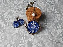 Sady šperkov - Modro-biely ornament - 10420505_
