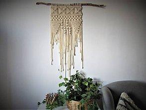 Dekorácie - Makramé závesná dekorácia ETNO - 10418911_