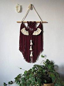 Dekorácie - Makramé závesná dekorácia MODERN VINE - 10419149_
