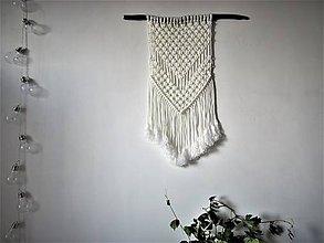 Dekorácie - Makramé závesná dekorácia MODERN WHITE - 10419220_