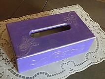 Krabička na kapesníky - servítky s reliéfem