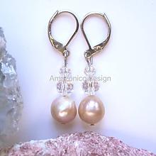Náušnice - Náušnice říční perly a křišťál - 10420346_
