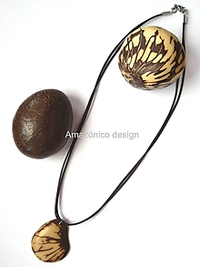 Náhrdelníky - Tagua marmórea (natural beige) - 10420376_