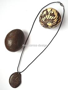 Náhrdelníky - Tagua marmórea (natural) - 10420418_