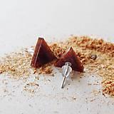 Náušnice - Náušničky 'Woody' - trojuholníky - 10420474_